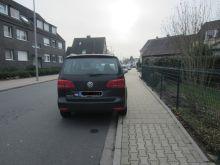 strafe parken auf gehweg